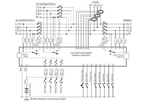 DKG-329 ATS контроллер автоматического переключения реверсивного рубильника с синхроскопом или управлением двумя генераторами, фото 2