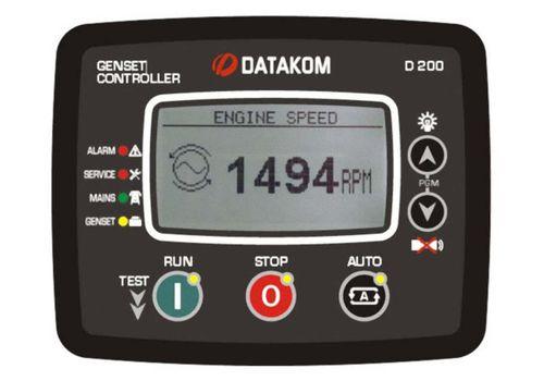 D-200 инновационный контроллер для управления генераторной установкой c резервированием вводов. Подогрев дисплея, опционально J1939-CANBUS и GSM модем, фото 1