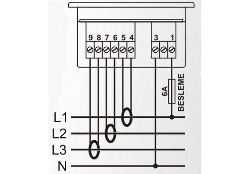 DA-0103 амперметр, 3-фазный, Типоразмер: 72х72 мм, фото 2