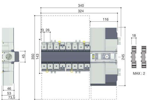 ATyS p M 4X160A F 230/400Vac, фото 2