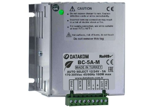 Зарядное устройство с автоматическим выбором напряжения заряда на 5А BC-5A-M, фото 1